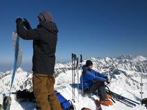 Snow mountains, extreme ski (High Tatras, Slovakia) Stock Photography
