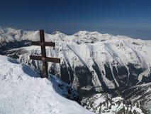 Snow mountains, extreme ski (High Tatras, Slovakia) Royalty Free Stock Images