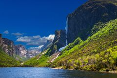 Free Snow Mountains, Fjords, Waterfalls All In One Place - Gros Morne National Park, Newfoundland, Canada Royalty Free Stock Photography - 180734297
