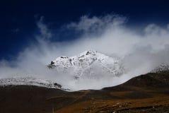 Snow mountains  in Himalaya. A 'burning'snow mountain  in Himalaya,Tibet Royalty Free Stock Images