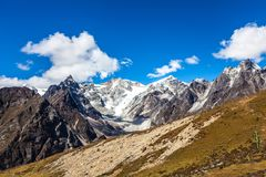 Snow mountains in Himalaya of Tibet.  royalty free stock photography
