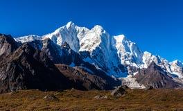 Snow mountains in Himalaya of Tibet.  stock image