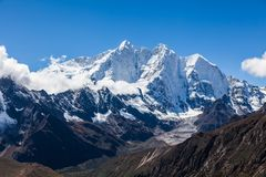 Snow mountains in Himalaya of Tibet.  royalty free stock images