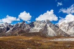 Snow mountains in Himalaya of Tibet.  stock photography