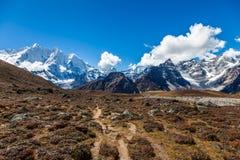 Snow mountains in Himalaya of Tibet.  royalty free stock photo