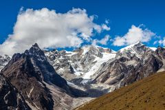 Snow mountains in Himalaya of Tibet.  royalty free stock image