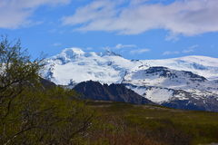 Snow mountains in Iceland Stock Image