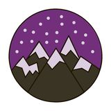 Snow in the mountains icon royalty free illustration