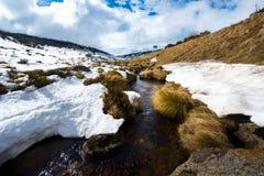 Snow mountains in Kosciuszko National Park, Australia Royalty Free Stock Images