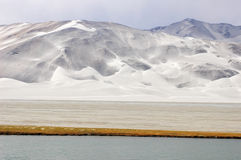 Snow mountains and lake Stock Photography