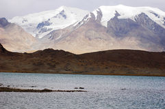 Snow mountains and lake Stock Images