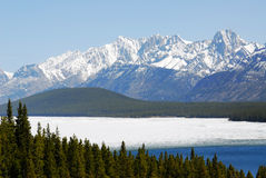 Snow mountains and lake Royalty Free Stock Photography