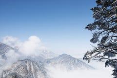 Snow mountains landscape Royalty Free Stock Photos