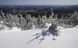 Snow mountains landscape Killington Peak, Vermont Royalty Free Stock Images