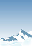 Snow Mountains Landscape. Vector illustration of snow mountains with snow land Stock Images