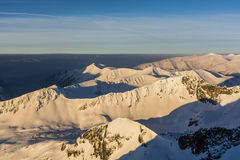Snow mountains in the morning sun. Stock Photography