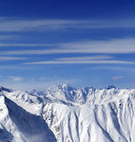 Snow mountains in nice day Royalty Free Stock Photos