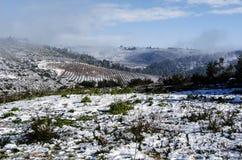 Snow on the mountains Royalty Free Stock Photos