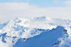 Snow mountains in Paradiski skiing region Royalty Free Stock Photography