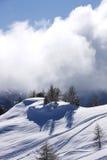 Snow mountains. Ski active snow winter mountain stock image