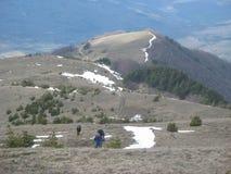 Snow in the mountains Stock Photos
