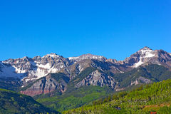 Snow Mountains of Telluride, Colorado. Royalty Free Stock Photography
