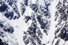 Snow mountains texture stock photos