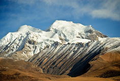 Snow mountains in Tibet Royalty Free Stock Photo