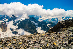 Snow mountains of Titlis in Switzerland Alps Royalty Free Stock Image