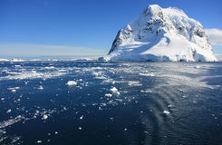 Snow mountans in Antarctica Stock Photos