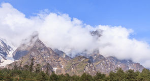 Snow moutain in north Sikkim, India Stock Photo
