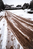 Snow and mud Stock Photography