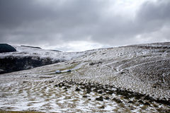 Snow on the Mynydd Epynt. Royalty Free Stock Photography