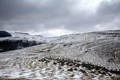 Snow on the Mynydd Epynt. Royalty Free Stock Photography
