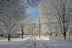 Snow in the Neighborhood Royalty Free Stock Photography