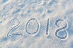 2018 on the snow Stock Image