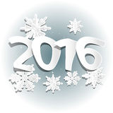 Snow and 2016. New year, web source, web design Stock Photo