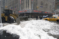 Snow in New York Royalty Free Stock Photography