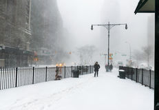 Snow in New York City Stock Photos