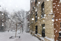 Snow in New York City Stock Images