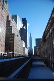 Snow on New York city streets Royalty Free Stock Photography