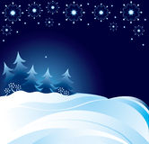 Snow at night. Illustration drawing of beautiful snow at night Royalty Free Stock Images