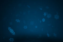 Snow at night Royalty Free Stock Image