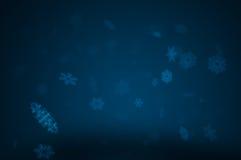 Snow at night. Dark background - falling snowflakes at night Royalty Free Stock Image