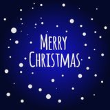 Snow night background. Greeting Card Merry Christmas.  Stock Photos