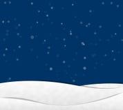 Snow in night Sky Stock Photos