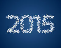 Snow 2015. Number. Vector illustration for New Year Stock Image