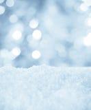 Snow och bokeh Arkivbild