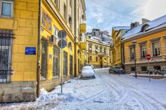 Belgrade winter zadarska Royalty Free Stock Images