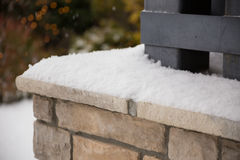 Free Snow On Ledge In Eugene Oregon Stock Photography - 85638482